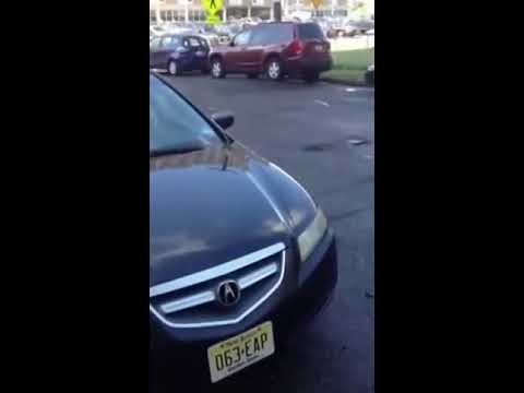 People flying over massive speed bumps in jersey city part 2
