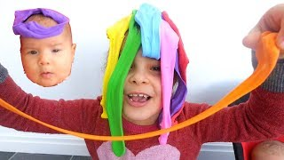 Slime fun Kids Play with a Slime and Cute Baby Doll Learn Colors, Colours for Kids