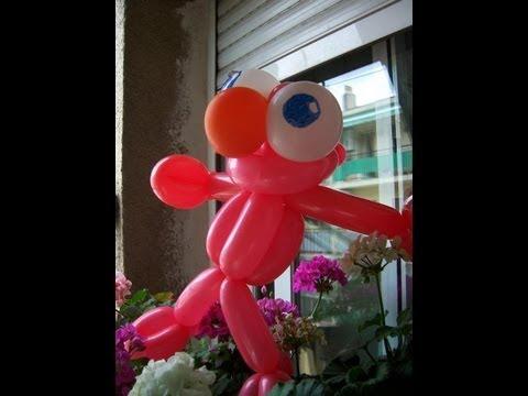 Tutorial de globoflexia Elmo de Barrio Sésamo Sesame Street Elm