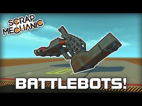 Multiplayer BattleBot Arena Challenge! (Scrap Mechanic #219)