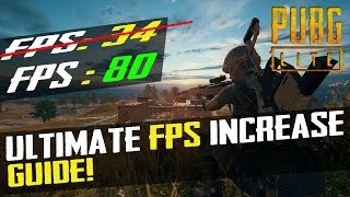 🔧 PUBG Lite : Dramatically Increase Performance/FPS With Any Low End Setup 2019 (Basic Tweak)