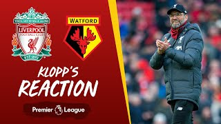 Klopp's Reaction: We scored exceptional goals | Liverpool v Watford