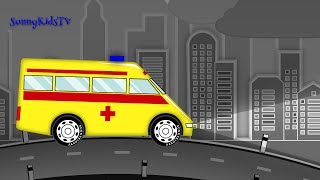 Cars and Trucks for Kids. Ambulance. Fire Truck. Police Car. Cartoon for Children.