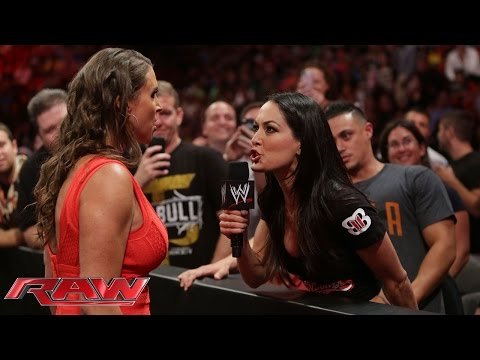 Stephanie McMahon confronts Brie Bella Raw July 21 2014