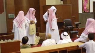 احمد ومحمد بحلقة تحفيظ القران بجامع خالد بن الوليد بحي قرطبه بالرياض