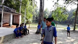 Mustafizur Rahman is playing with the children in his village