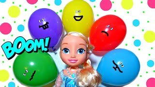 Top Water Balloons Learn Colours compilation - 12 Minutes Balloon Finger Family Nursery Rhyme Colors