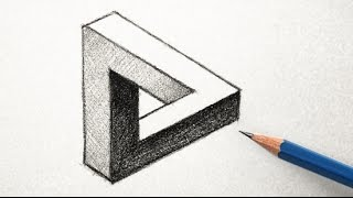 How to Draw an Optical Illusion Triangle the Easy Way