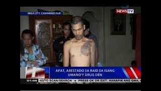 NTVL: Apat, arestado sa raid sa isang umano'y drug den