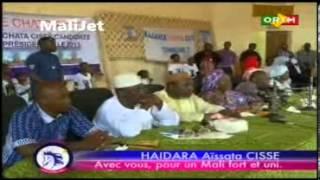 Message du candidate l'Alliance CHATO, Haidara Aissata CIsse 2013