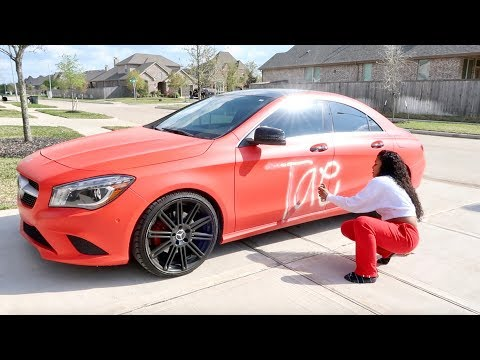 Xxx Mp4 SPRAY PAINTING GIRLFRIEND CAR PRANK 3gp Sex