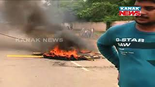 BJB College Students Block Road After Poll Cancellation