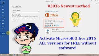 Activate Office 2016 ALL versions for FREE without software - Newest method ✔