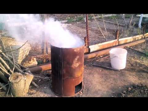 Как из бочки сделать печь для сжигания  84