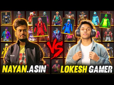 LokeshGamer Vs NayanAsin Collection Battle With Global Top 1 Richest Player 😱 Garena Free Fire