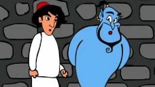 علاءدین و غول چراغ در غار جادو _ Aladin in magic cave !