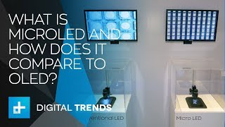 What is MicroLED and how does it compare to OLED?