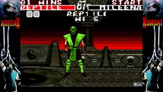 Mortal Kombat II All Fatalities Game Gear
