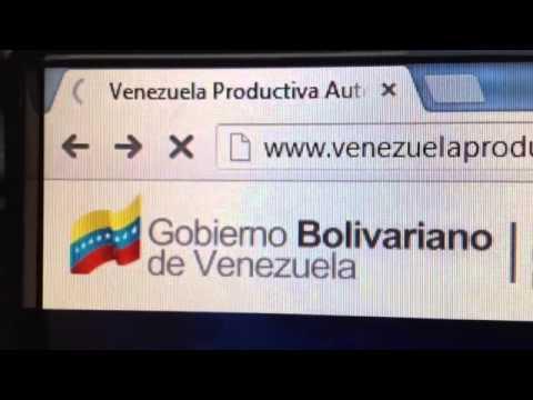 Registrarse en Venezuela Productiva
