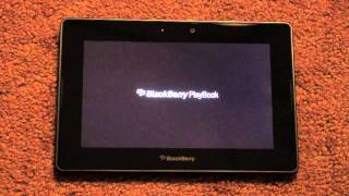BlackBerry PlayBook First Boot Up