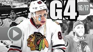 Chicago Blackhawks vs Nashville Predators. 2017 NHL Playoffs. Round 1. Game 4. 04.20.2017 (HD)