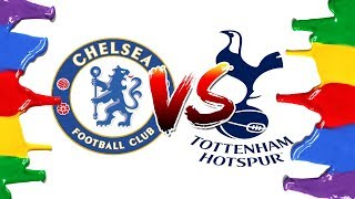 How to Draw and Color - Chelsea vs Tottenham Champions League Logos Coloring Pages