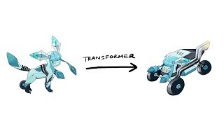 EEVEELUTIONS ( Glaceon ) - Pokemon Characters As Transformer.