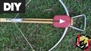 Insane DIY PlayButton Crossbow! 100lbs Cheap PVC