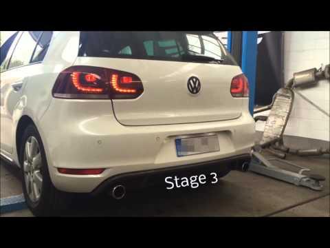 Underground Exhaust VW Golf 6 GTI Stage 3 Sound Optimierung MK6 Turbo