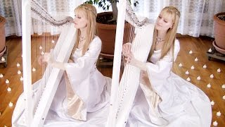 NIGHTS IN WHITE SATIN - The Moody Blues (Harp Twins) Camille and Kennerly