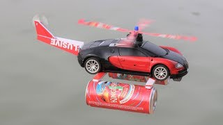 How to make a HELICOPTER - Bugatti car - flying car