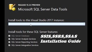 How To Download & Install SQL Server Data Tools For Visual Studio 2017 Updates