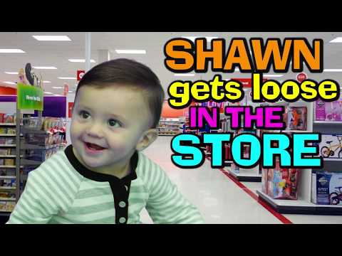 watch BABY SHAWN POOPS IN BATHTUB 😢 + GOES SHOPPING @ TARGET 😃 (FUNnel Vision Baby Gone Wild Vlog)