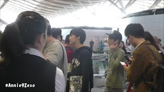 141019 2 SMROOKIES 에스엠루키즈 Jeno 제노 Jaemin 재민 back to Korea @ Shanghai Pudong Airport Departure 출발 出国
