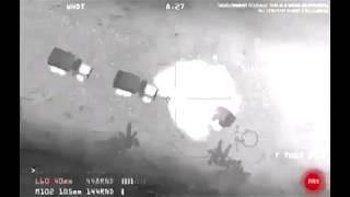 تعزيزات للحوثيين متوجهة لاحدى الجبهات تتعرض لكمين محكم من قبل مروحية أباتشي