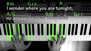 Alone for Piano w/ Chords and Lyrics