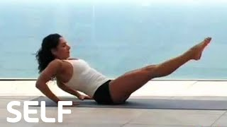 Jennifer Aniston's Yoga Workout - Workout Tips - SELF's Celebrity Moves to Steal