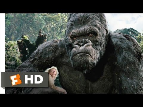 King Kong 3 10 Movie CLIP Kong Battles the T Rexes 2005 HD