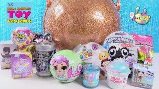 LOL Surprise Big Ball Blind Bag Toy Opening Disney Shopkins Hatchimals | PSToyReviews