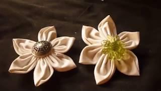طريقة خياطة وردة من القماش سهلة وجميلة  how to make fabric flower