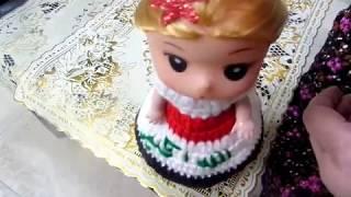 كروشيه /  فستان كروشي دمية مدالية العلم العراقي خطوة بخطوة يصلح مشروع من البيت