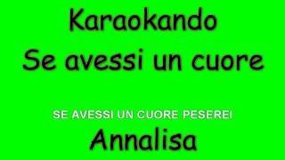 Karaoke Italiano - Se avessi un cuore - Annalisa Scarrone ( Testo )