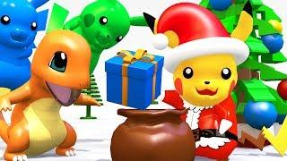 LEGO POKEMON Pikachu SANTA CLAUS Giving Christmas Gifts