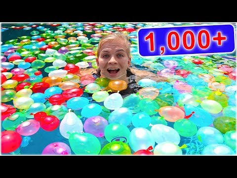 Xxx Mp4 1 000 WATER BALLOONS IN A POOL SoCassie 3gp Sex