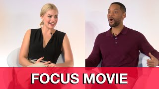 Will Smith & Margot Robbie Interviews - Focus Press Conference
