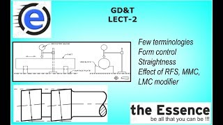 GEOMETRIC DIMENSIONING AND TOLERANCING (GD&T) LECT 2