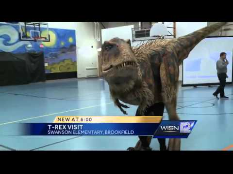 Baby T-Rex visits Brookfield school
