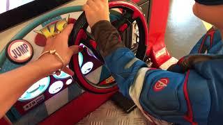 سيارات اطفال كرتون - العاب سيارات سباق للاطفال -  Captin America indoor playground