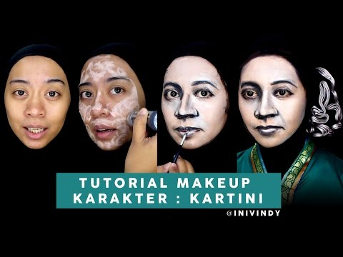Kartini Makeup Tutorial - Makeup Karakter - Makeup Transformation | Ini Vindy