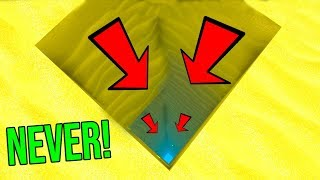 ROBLOX TREASURE HUNT SIMULATOR *NEVER DIG STRAIGHT DOWN!!*